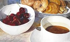 Honorable Mention - Breakfast in Cassis by Carol Mead