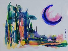 University Art ($100) - Blue Moon by Patrizia D'Antona