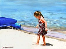 University Art ($150) - The Little Girl at South Lake Tahoe by Genway Gao