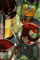 Accent Arts ($50) - Red, Red Wine by Terri Hill
