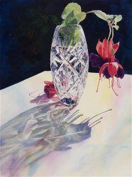 Picture Element ($150)  - Fuchsia Crystal Vase by Jane Kwant