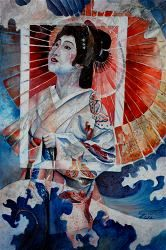 Quiller Gallery ($100) - Geisha by Kathy Lake