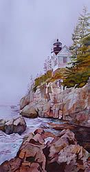 Union Framing ($50) - Bass Harbor Lighthouse, Maine by Lyn Garadis