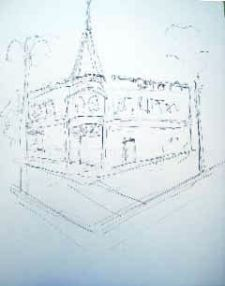 paintsites activity - Dick Zunkel pen sketch