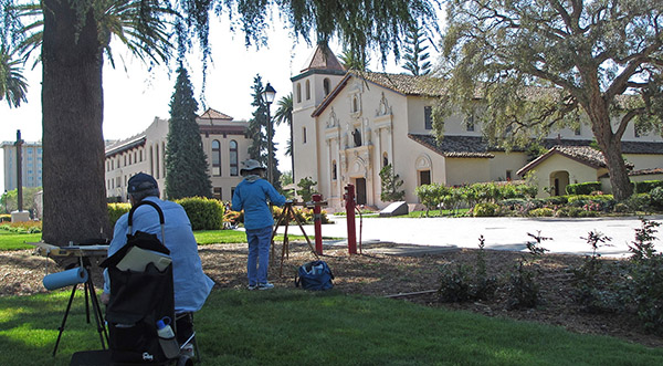 Artists at Santa Clara Mission